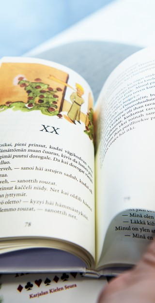 Photo of a childern's book written in the Karelian language.
