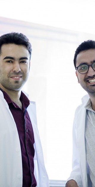 Graduate students Ali Mohammadi and Mohammadhossein Ebrahimi, Master's Degree Programme in Medical Physics